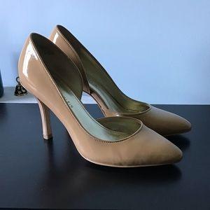 Anne Klein Nude Patent Heels
